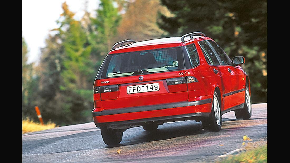 Saab 9-5 2.3t Kombi, Heckansicht