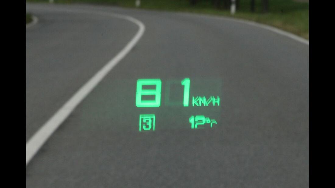 Saab 9-5, Head-up-Display