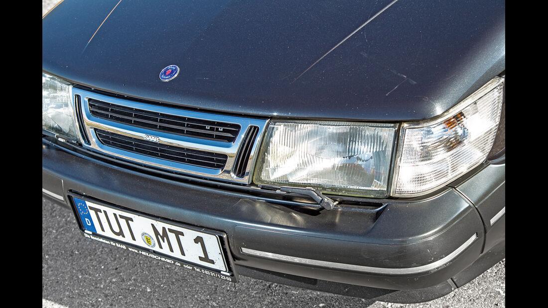 Saab 900 Cabrio, Frontscheinwerfer, Kühlergril