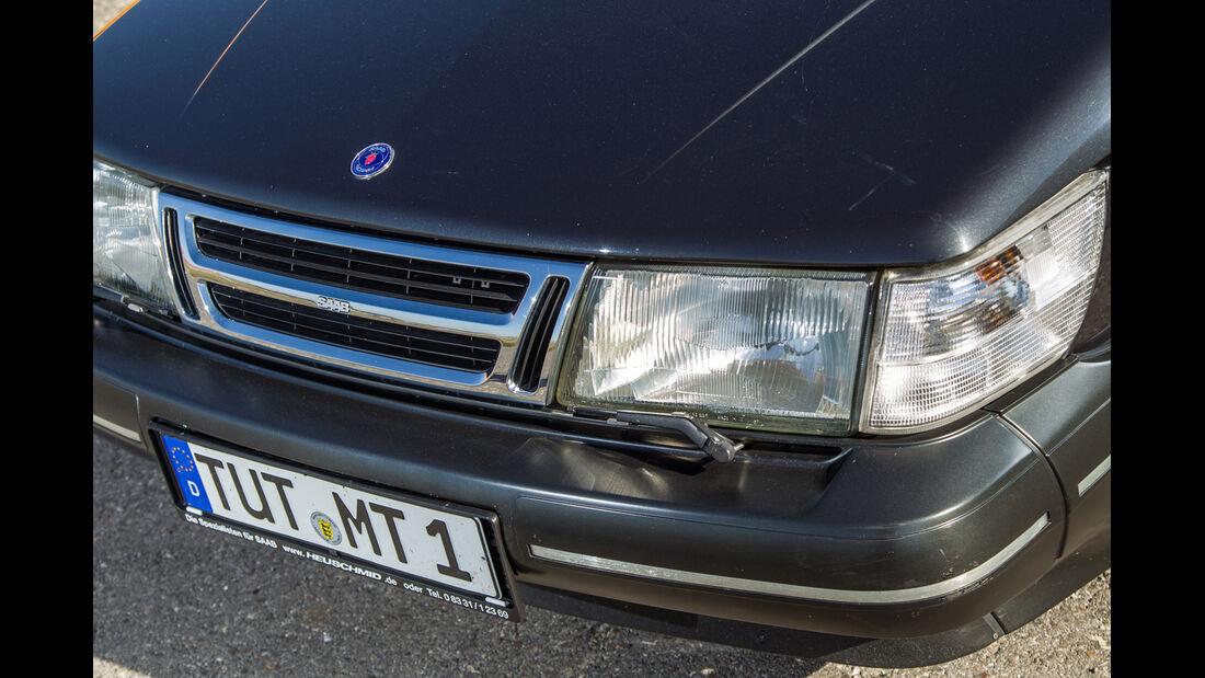 Saab 900 S Cabrio, Kühlergrill, Frontscheinwerfer