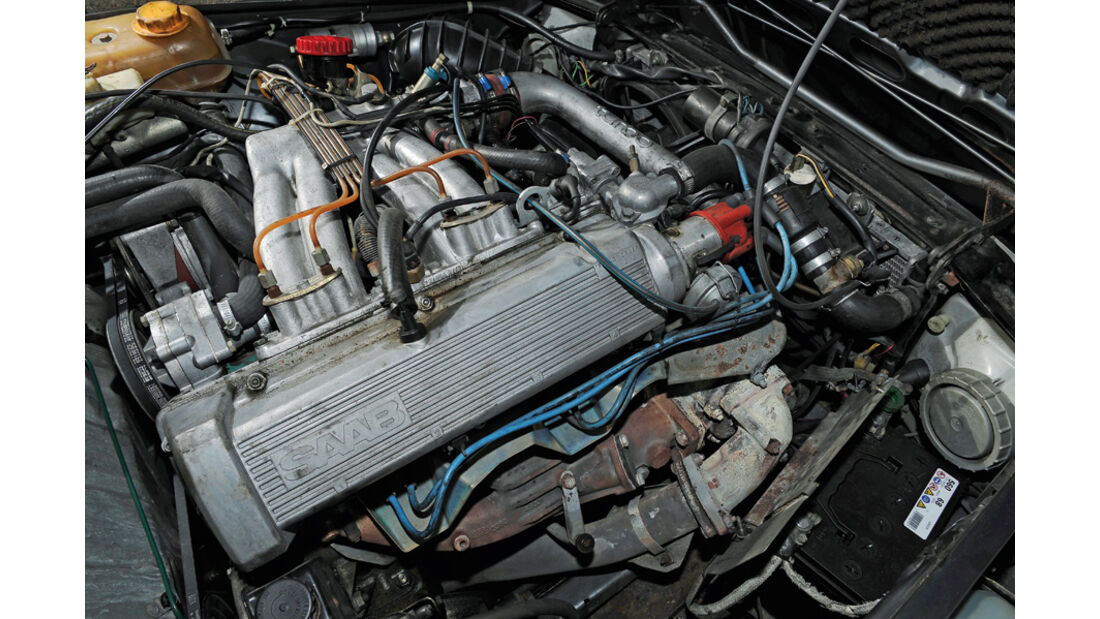 Saab 900 Turbo DeLuxe, Baujahr 1984 Motor