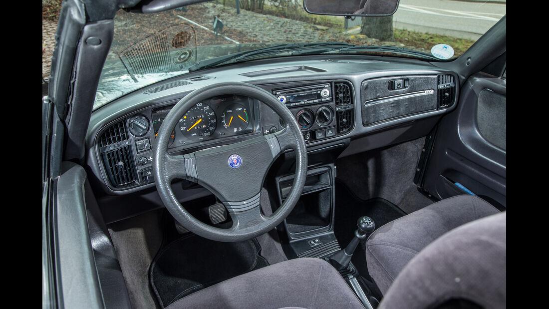 Saab 900i 16 Cabrio, Cockpit