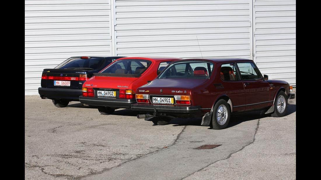 Saab 99, 900, 9000, Heckansicht