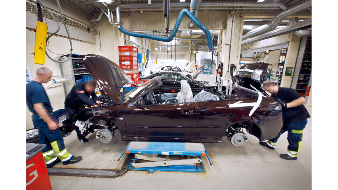 Saab, Produktionshalle