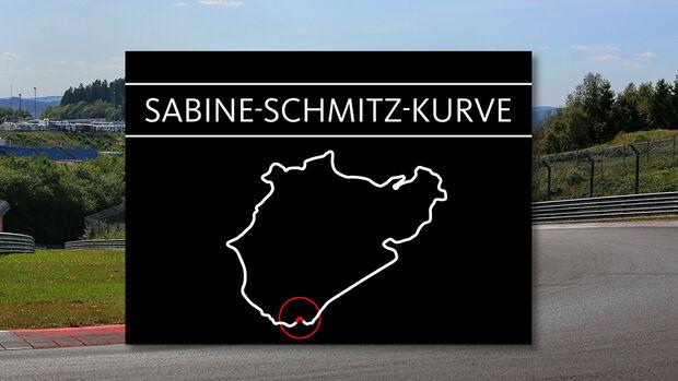Sabine Schmitz Kurve Nürburgring
