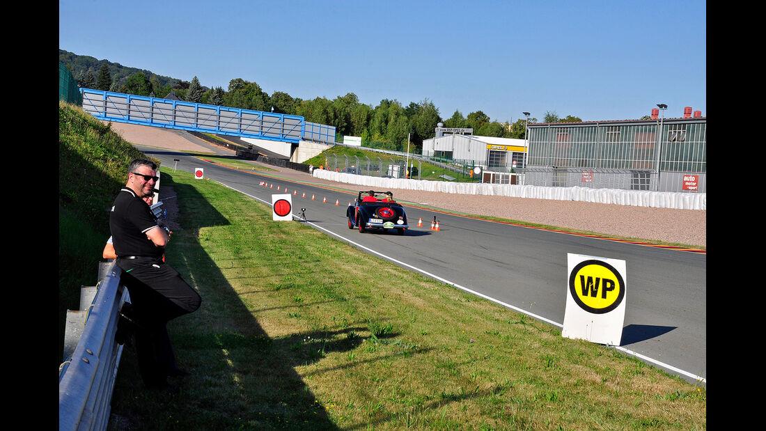 Sachsen Classic 2012, Vortag, Rallye-Lehrgang auf dem Sachsenring