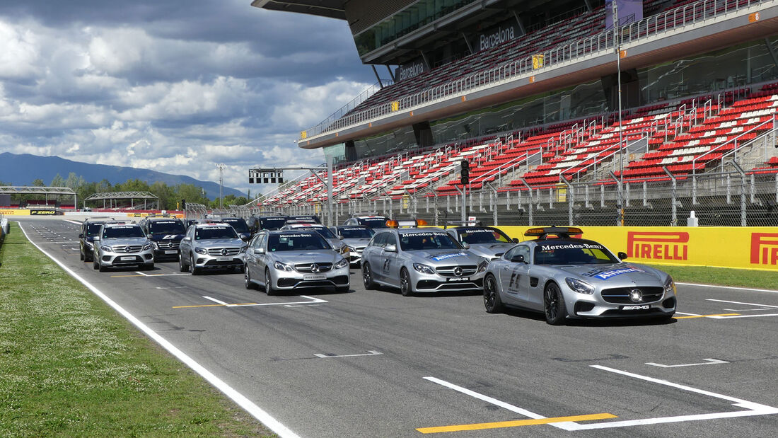 Safety Car - Medical Car - Flotte - GP Spanien - Circuit de Barcelona-Catalunya - Mittwoch - 11. Mai 2016