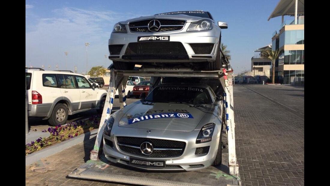 Safety-Cars - Formel 1 Test - Abu Dhabi - 25. November 2014