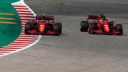Sainz - Leclerc - Ferrari - GP USA - Austin - Samstag - 23.10.2021