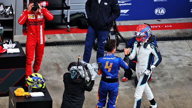 Sainz - Norris - Russell - GP Russland 2021 - Sotschi - Qualifikation