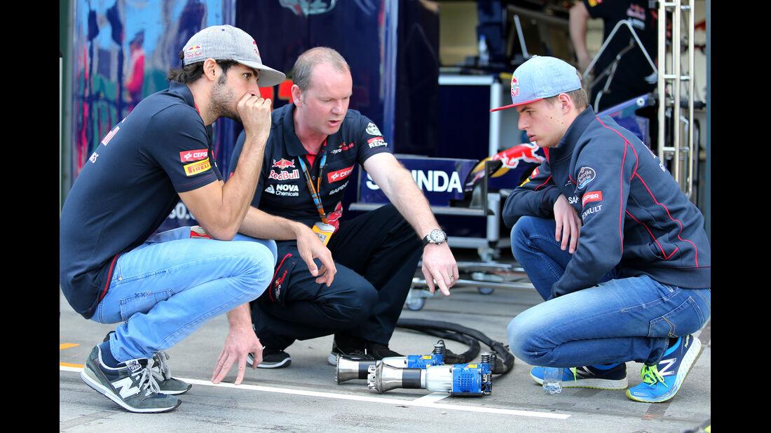 Sainz & Verstappen - Toro Rosso - Formel 1 - GP Australien - Melbourne - 14. März 2015