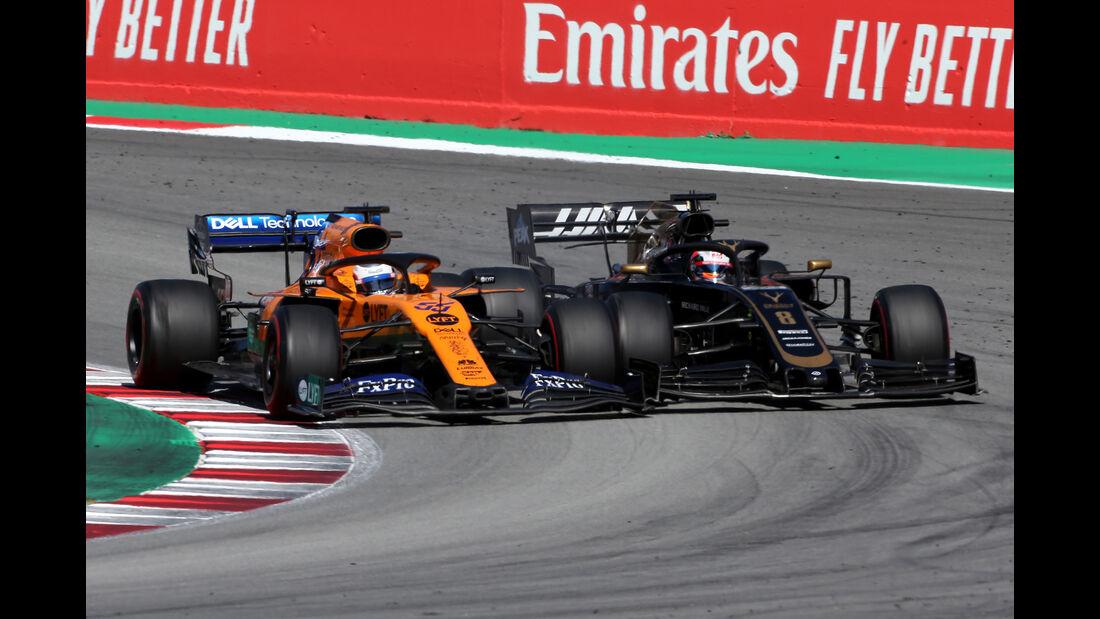 Sainz vs. Grosjean - Formel 1 - GP Spanien 2019