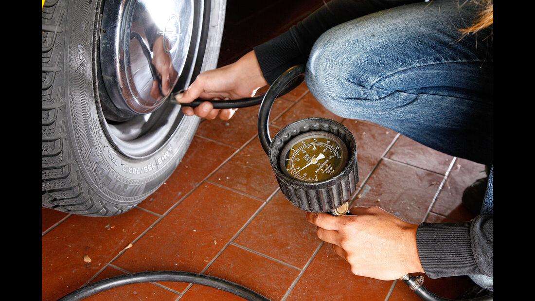 Saisonstart Reifen Luftdruck