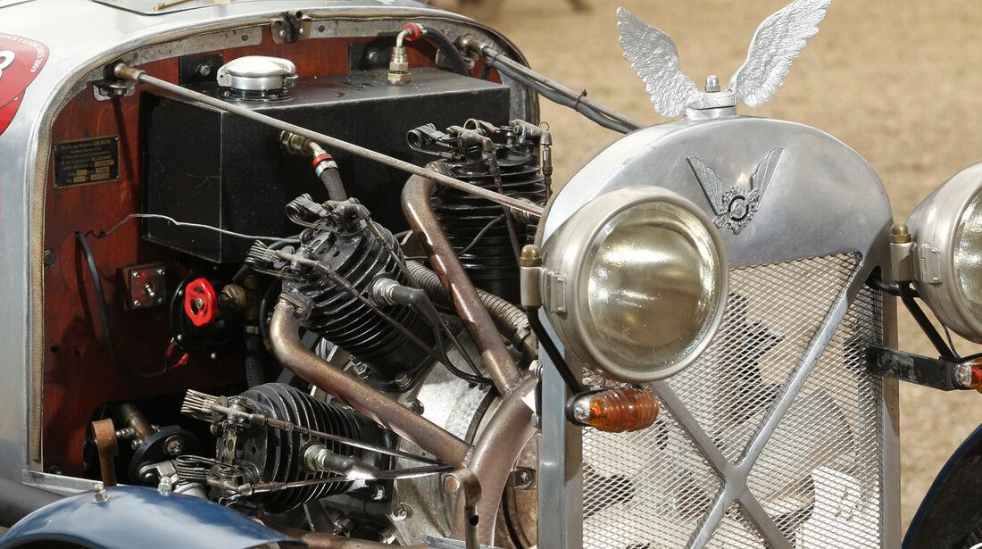 Salmson 9AD, Kühlerfigur, Motor