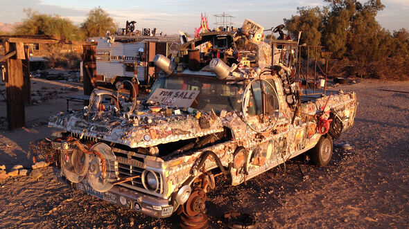Salvation Mountain Cars, Slab City, Bedazzled Truck, Ford Ranger