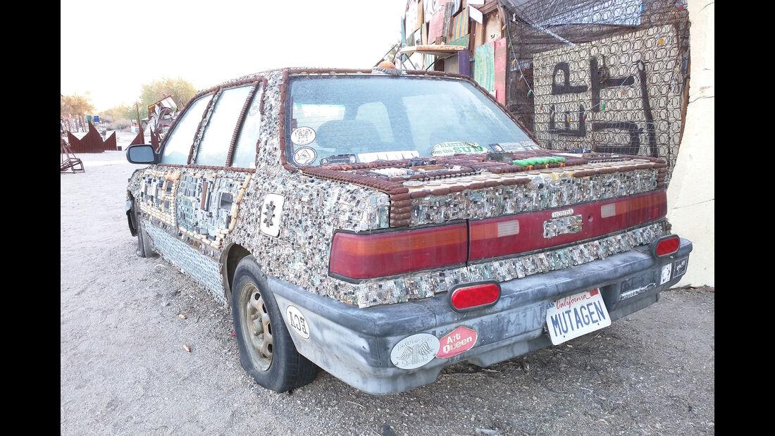 Salvation Mountain Cars, Slab City, East Jesus, Honda Civic Sedan Mutagen