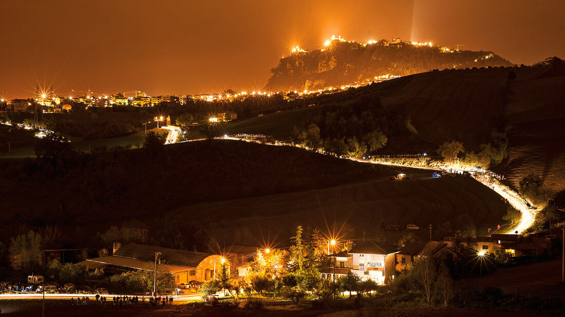 San Marino, Altstadt, Nacht