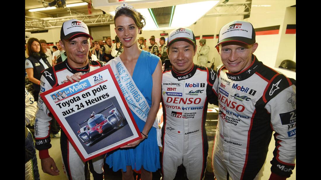 Sarrazin - Kobayashi - Conway - Toyota TS050 Hybrid - Startnummer #7 - 24h-Rennen Le Mans 2017 - Qualifying