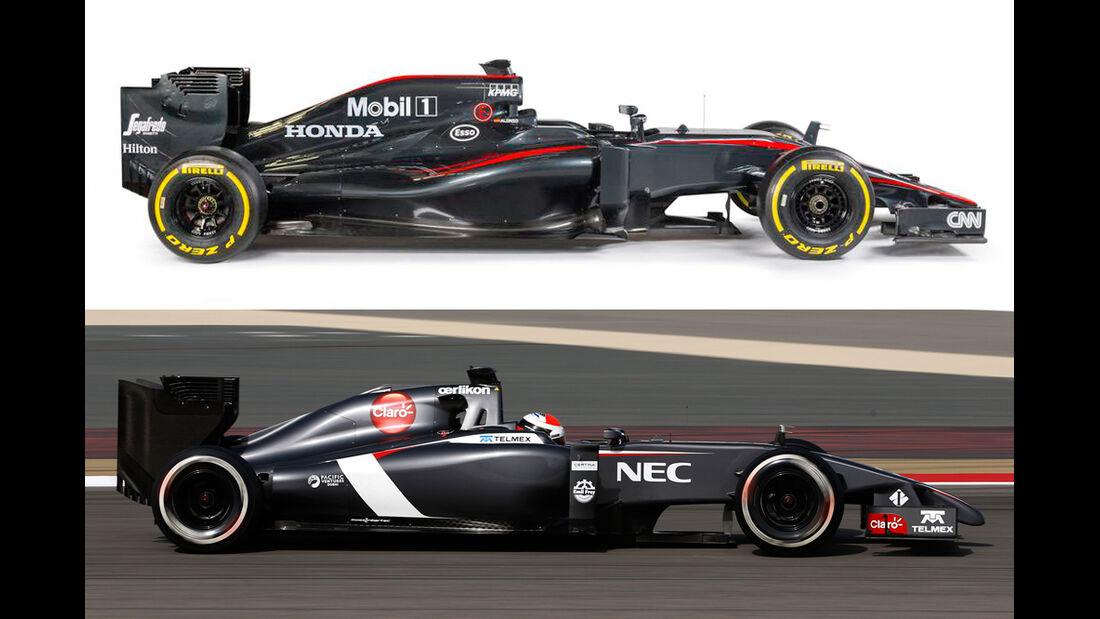 Sauber 2014 & McLaren 2015 - Formel 1