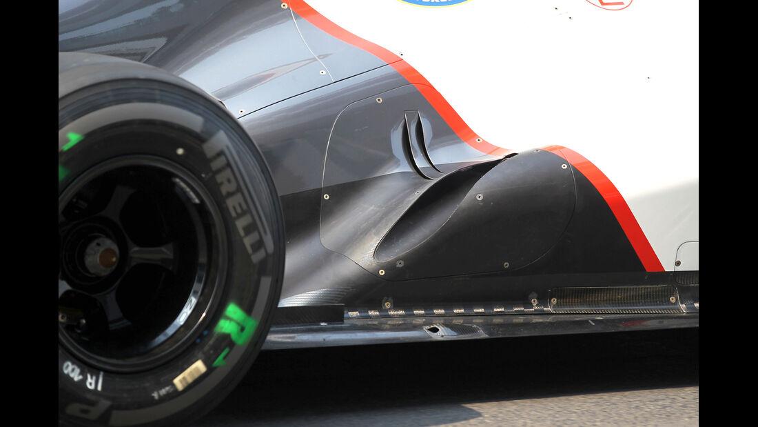 Sauber Auspuff GP Indien 2012