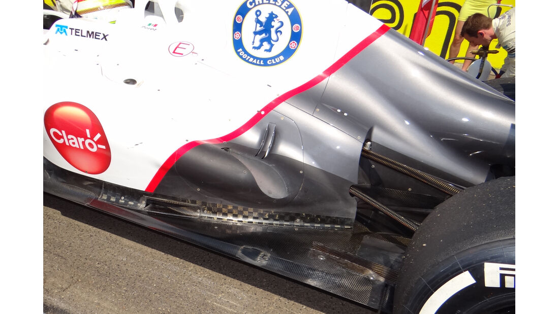 Sauber Auspuff GP Ungarn 2012
