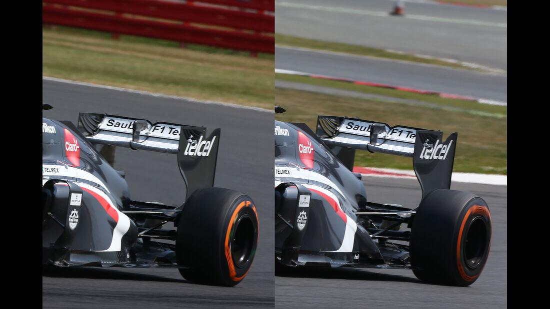 Sauber Auspuff - Young Driver Test Silverstone 2013