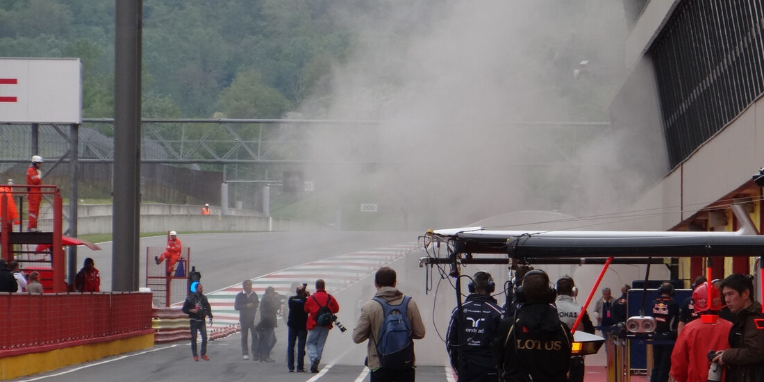 Sauber-Brand - Formel 1-Test - Mugello - 3. Mai 2012
