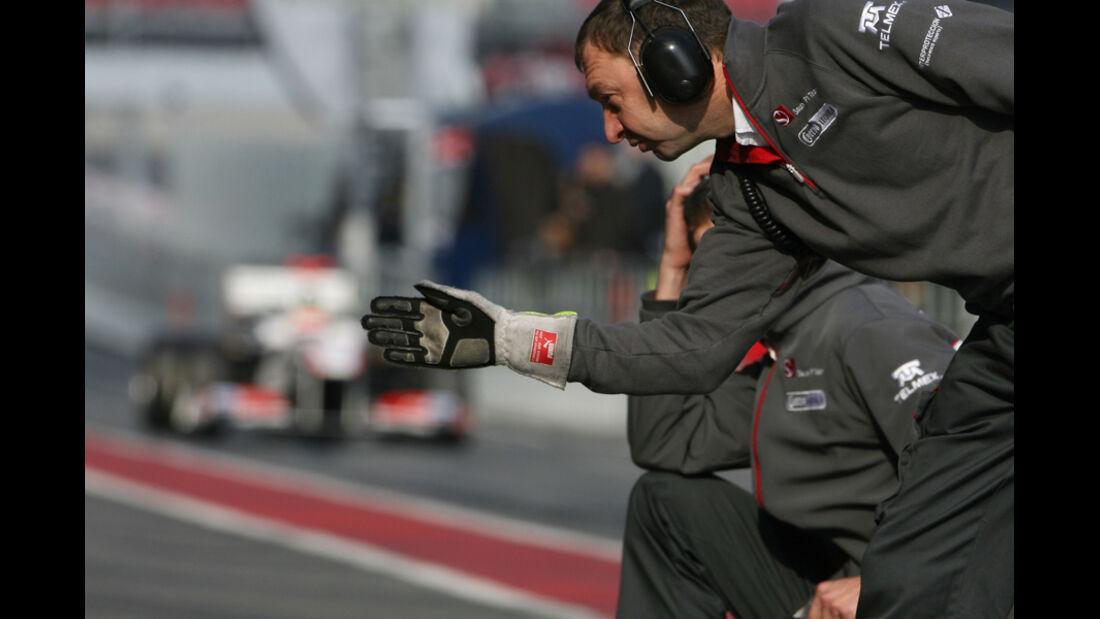 Sauber C30 Kobayashi Formel 1 Test Barcelona 2011