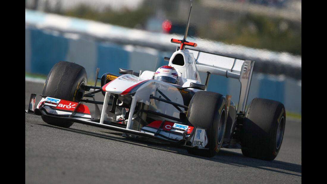 Sauber C30 Kobayashi Test 2011