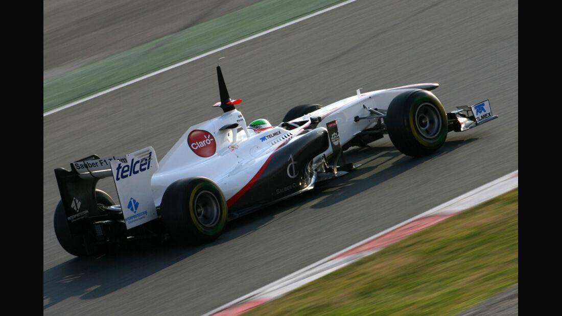 Sauber C30 Perez Formel 1 Test Barcelona 2011