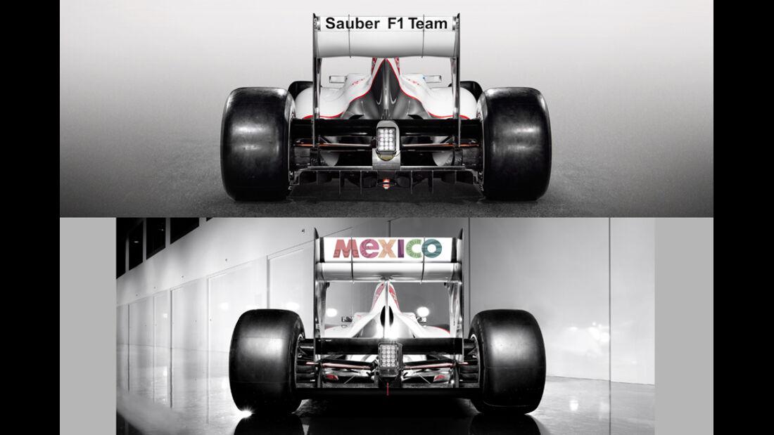 Sauber C31 Vergleich C30 2012
