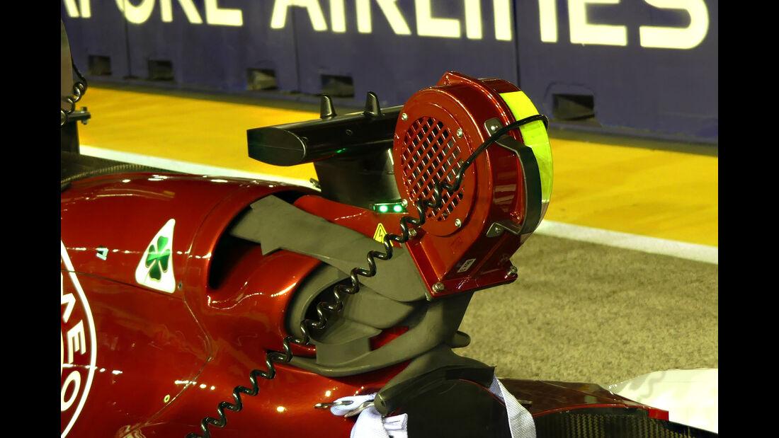 Sauber - F1-Technik - Lüfter - GP Singapur 2018