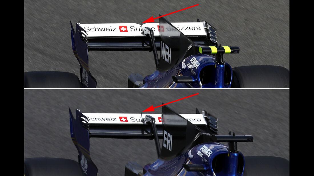 Sauber - F1-Technik - Upgrades - GP Belgien / GP Italien 2017