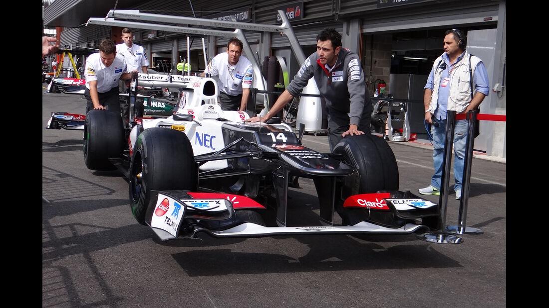Sauber - Formel 1 - GP Belgien - Spa - 30.8.2012