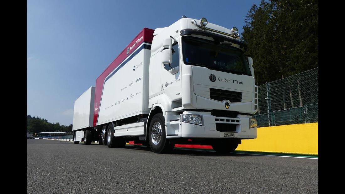 Sauber - Formel 1 - GP Belgien - Spa-Francorchamps - 22. August 2018