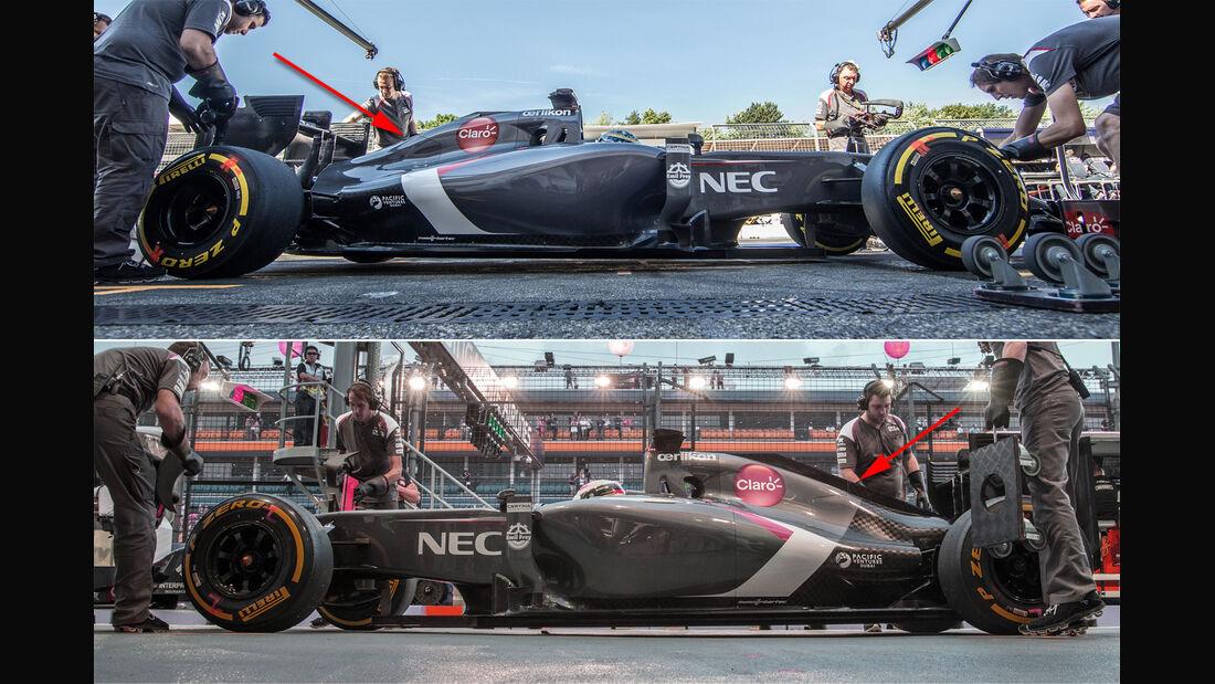 Sauber - Formel 1 - Technik - GP Singapur 2014