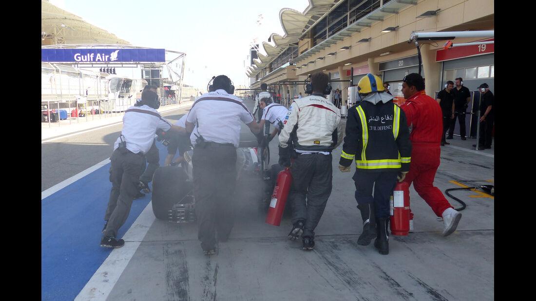 Sauber - Formel 1 - Test - Bahrain - 1. März 2014