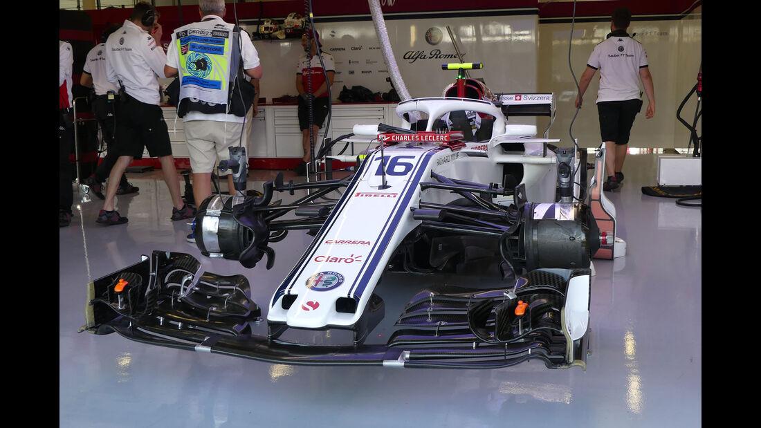 Sauber - GP England - Silverstone - Formel 1 - Freitag - 6.7.2018