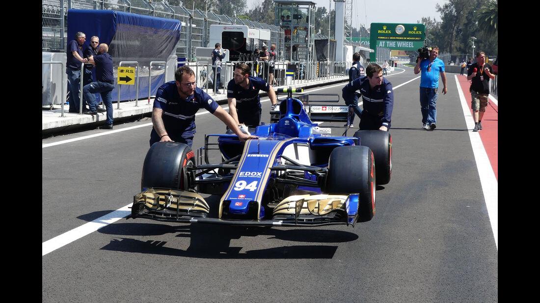 Sauber - GP Mexiko - Formel 1 - Donnerstag - 26.10.2017