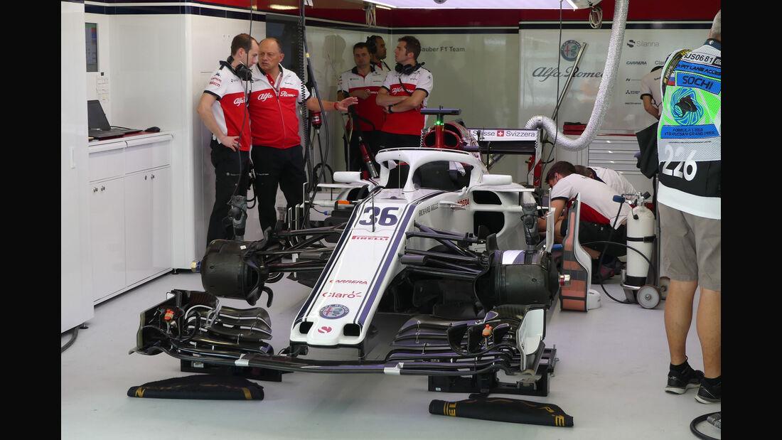 Sauber - GP Russland - Sotschi - Formel 1 - Freitag - 28.9.2018