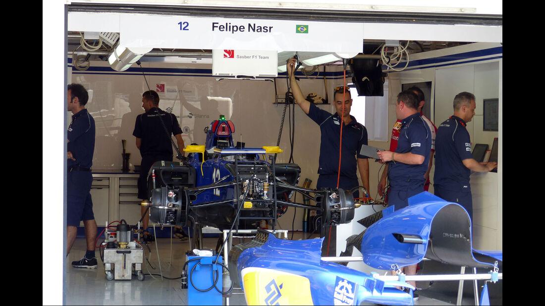 Sauber - GP Ungarn - Budapest - Donnerstag - 23.7.2015