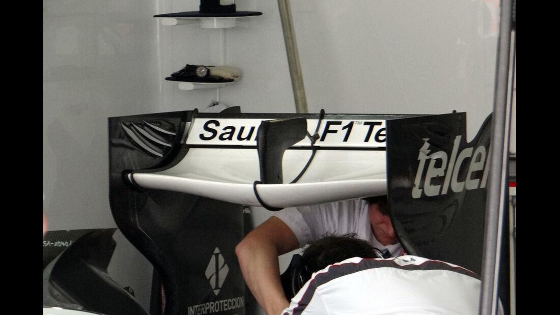 Sauber Heckflügel Gutierrez - Formel 1 - GP China - 12. April 2013