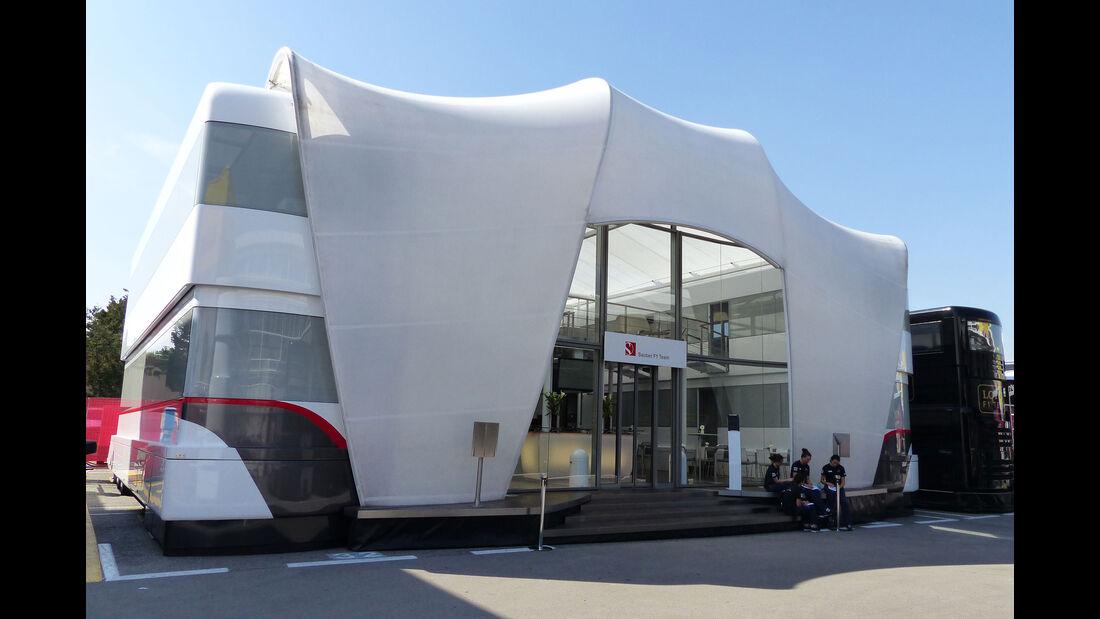 Sauber - Motorhome - GP Spanien 2015 - Barcelona