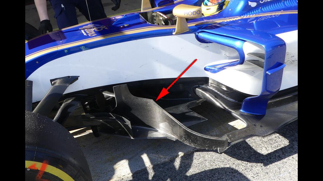 Sauber - Technik - Barcelona-Test 2017 - Formel 1