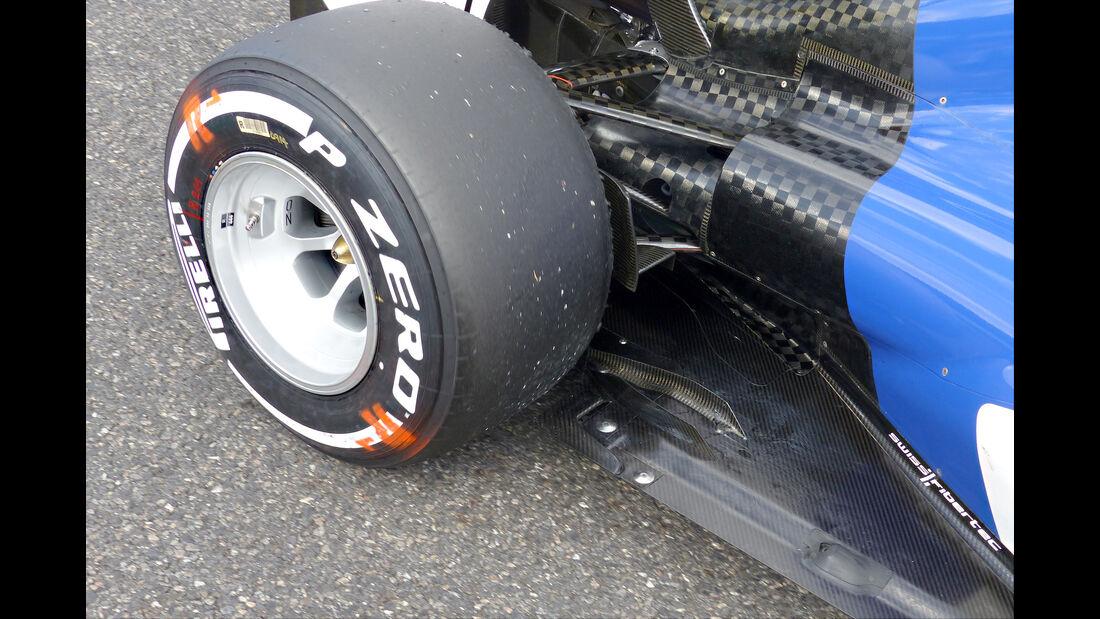 Sauber - Technik - Unterboden-Schlitze - Formel 1 - 2015