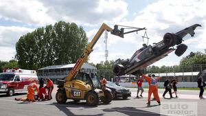 Sauber Unfall GP Kanada 2013