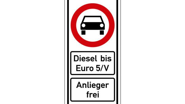 Schild Dieselfahrverbot