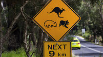 Schild, Mercedes F-Cell World Drive, 30. Etappe, Australien Lakes Entrance - Melbourne