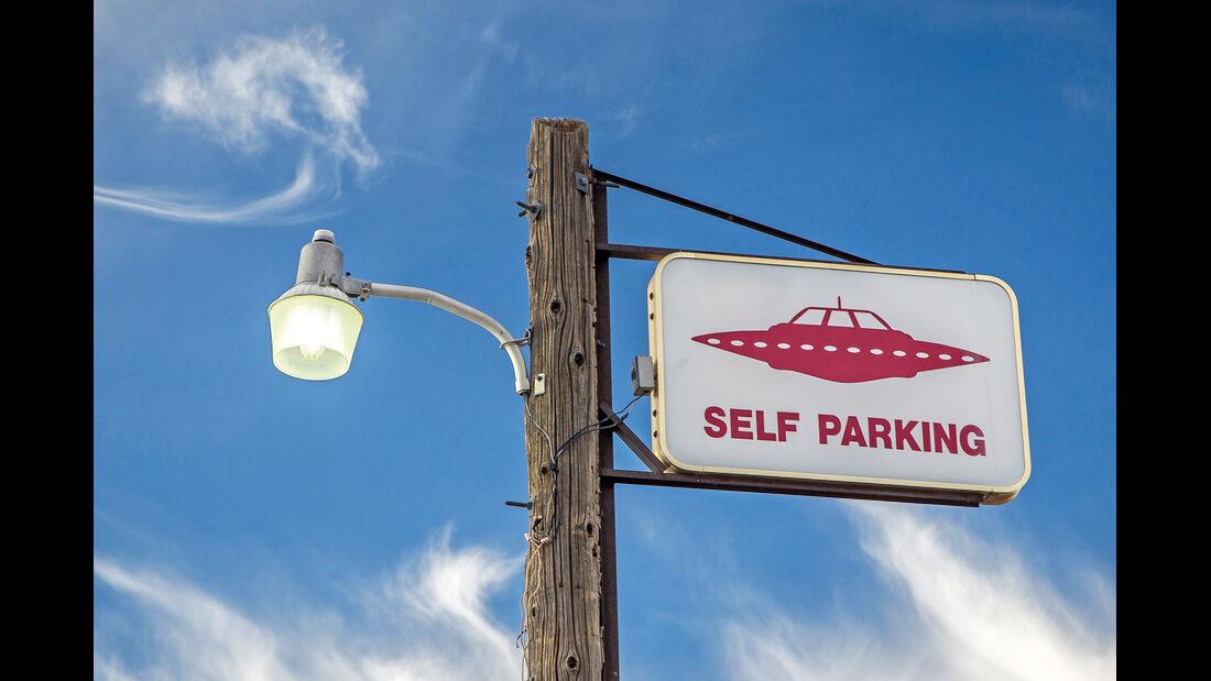 Schild, Ufo, Self Parking
