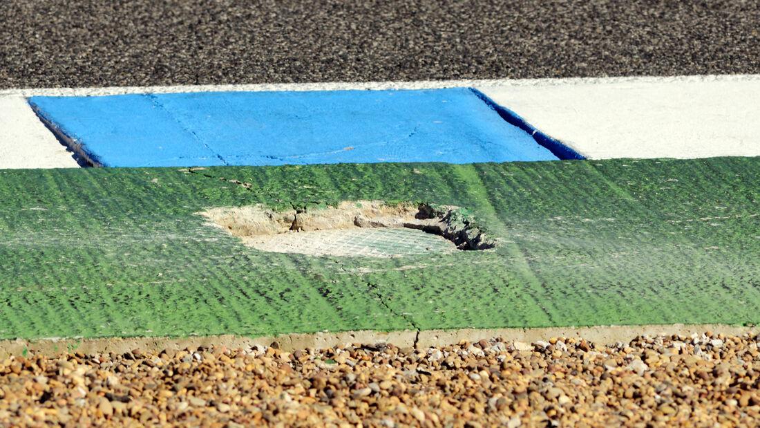 Schlagloch - F1-Test Jerez 2013